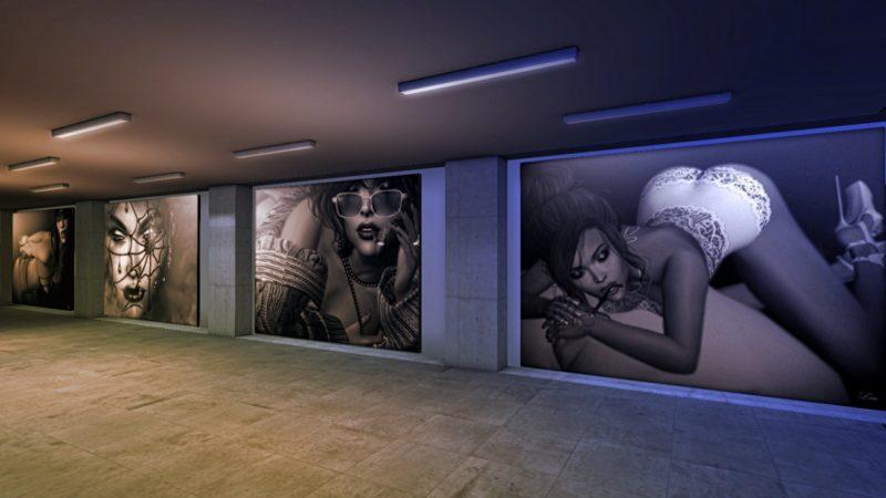Lou Shadow, Imani Nayar, Juris Bergmanis and Nath Baxton at DixMix Art Gallery
