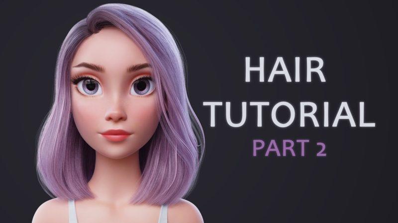 Blender Hair Tutorial Part 2 (rendering hair with Blender Cycles)