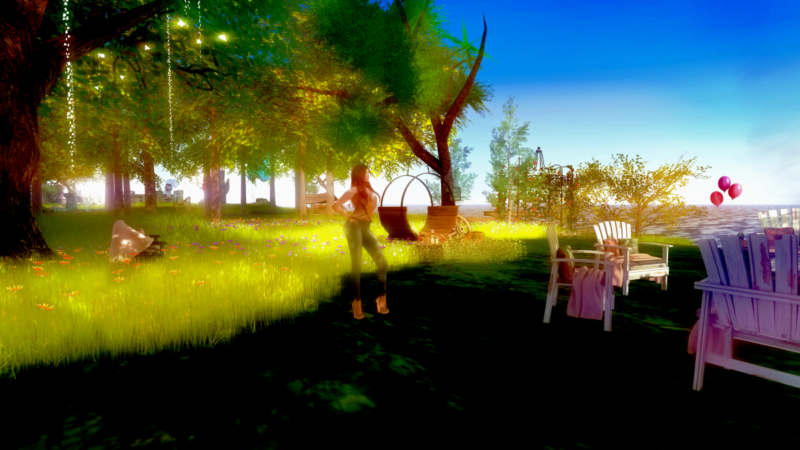 Cake in Second Life®, a sim designed for artists