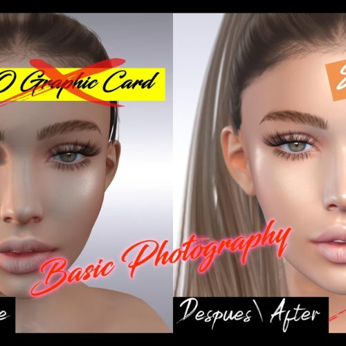 Second Life Photography – TIPS de Fotografía sin Photoshop, Sin Tarjeta gráfica 2020 ( English CC )