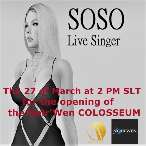 Soso in Concert at Noir'Wen City