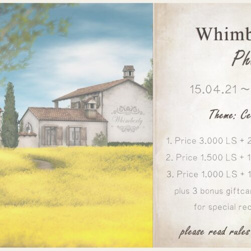 5th anniversary of Whimberly – Photocontest