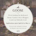 Goose searches home-decor bloggers