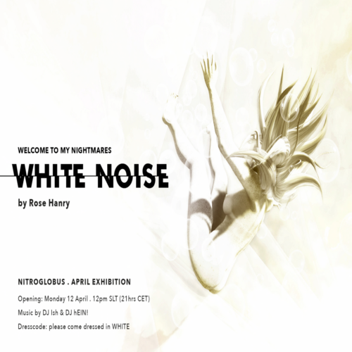 """""""White Noise. Welcome to my nightmares!"""" by Rose Hanry at  Nitroglobus Roof Gallery"""