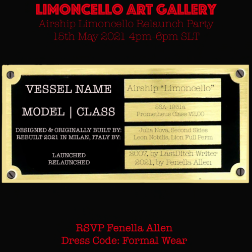 "Relaunch Party of the Airship ""Limoncello"""